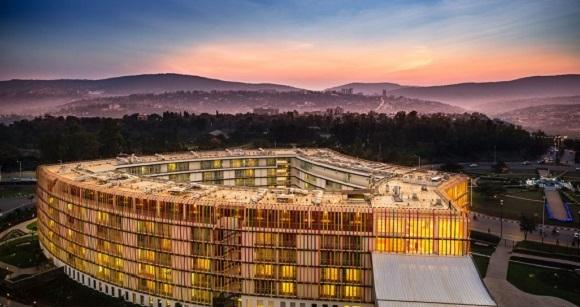 Radisson Blu Kigali exterior hotel night french